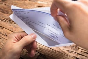 workers' compensation check